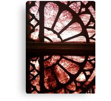Stained glass in historical building - #2 Canvas Print