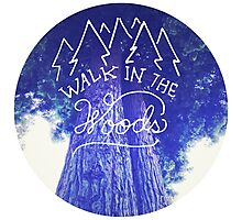 Camping nature hipster tumblr typography wanderlust photo Photographic Print