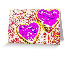 Large hearts Greeting Card