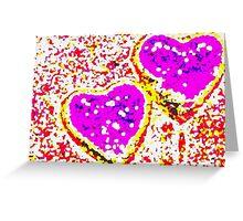 Large hearts Greeting Card