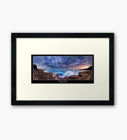 Dawn Spectrum - Sunrise @ Bannister Point, Mollymook Framed Print