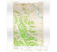USGS Topo Map Oregon Jim Creek Butte 280324 1963 24000 Poster
