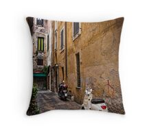 Roman Alley Throw Pillow