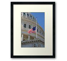 Capitol Stars and Stripes Framed Print