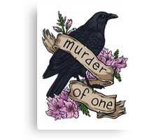 Murder of One Canvas Print