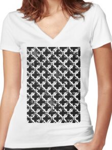 Lattice #1 Women's Fitted V-Neck T-Shirt