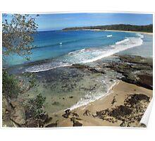 Beach scene, South Coast of NSW Poster