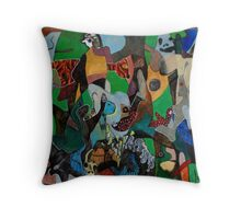 Daedalus and Icarus Throw Pillow