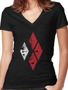 Quinn Diamonds Women's Fitted V-Neck T-Shirt