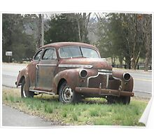 Old Rusty Automobile - Tennessee Poster