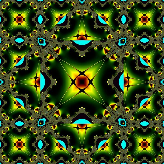 Mandelbrot Escher Squared by Hugh Fathers
