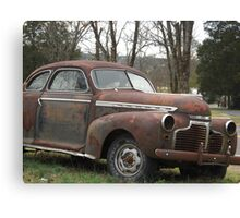 Old Rusty Automobile - Tennessee Canvas Print