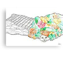 Sketch 2 ... hand-me-down duvet Canvas Print