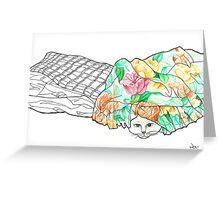 Sketch 2 ... hand-me-down duvet Greeting Card