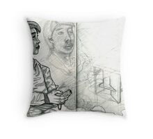 Sketch 1 ... you'd be home by now Throw Pillow