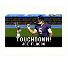 Tecmo Bowl Joe Flacco Art Print