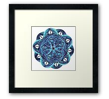 BLUE-GREEN WICKED  Framed Print