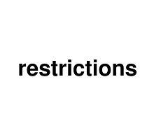 restrictions by ninov94