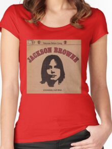 Jackson Browne- Saturate Before Using Women's Fitted Scoop T-Shirt