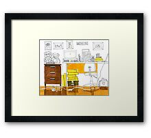 Sketch 3 ... study room Framed Print