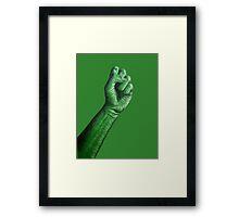 Green Fist Framed Print