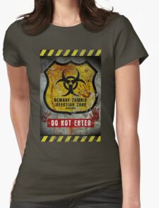 Zombie Infected Zone Womens Fitted T-Shirt
