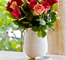 Coffee and Roses by Lynnette Peizer
