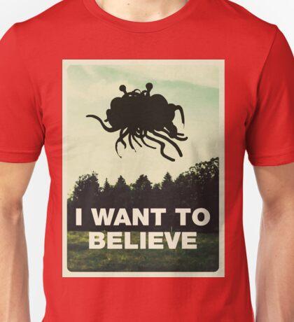 Flying Spaghetti Believing Unisex T-Shirt