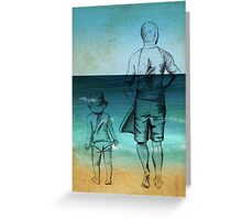Me and Daddy at the Beach Greeting Card