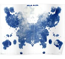 rorschach, forest - cyanotype print Poster