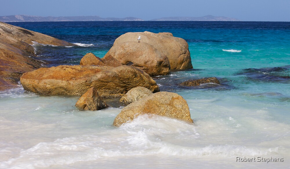 Little Beach Sea Spray by Robert Stephens