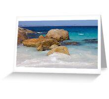 Little Beach Sea Spray Greeting Card