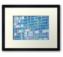 Living in Tetris Framed Print