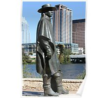 Stevie Ray Vaughan Statue Poster