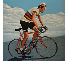 Eddy Merckx painting Photographic Print