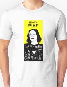 Edith Piaf Pop Folk Art Unisex T-Shirt