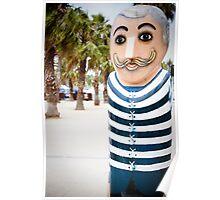Bollard Series 2 - Eastern Beach Geelong Poster