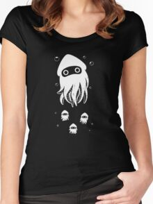 Happy Squid Family Women's Fitted Scoop T-Shirt