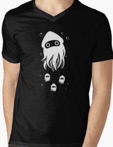 Happy Squid Family Mens V-Neck T-Shirt