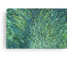 Glittering Waterfall in Blues & Greens Margaret Juul Canvas Print