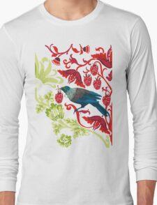 Flowers & Tui - NZ Colours Long Sleeve T-Shirt