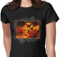 Gazania named Kiss Orange Flame Womens Fitted T-Shirt