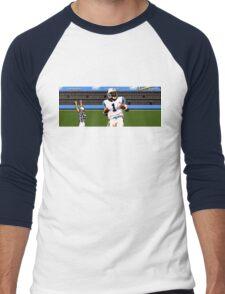 Tecmo Bowl Touchdown Cam Newton Men's Baseball ¾ T-Shirt