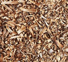 Wooden shavings background by Artur Mroszczyk