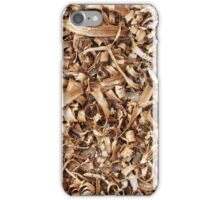 Wooden shavings background iPhone Case/Skin