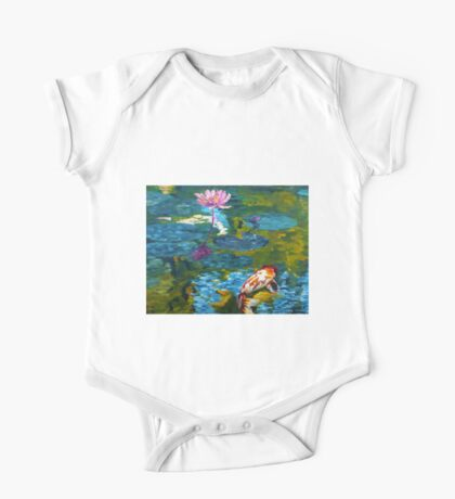 Tranquil Koi Lily Pond One Piece - Short Sleeve