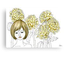Sketch 4 ... chrysanthemum Canvas Print