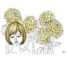 Sketch 4 ... chrysanthemum Photographic Print