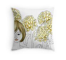 Sketch 4 ... chrysanthemum Throw Pillow