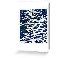 Midnight Wake Reflections of the Moon on Water Margaret Juul Greeting Card